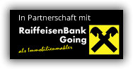 In Partnerschaft mit RaiffeisenBank Going als Immobilienmakler