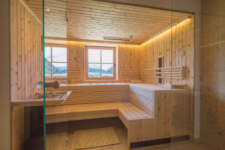 Sauna in einem Penthouse